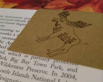 Cute Woodland Animal Corner Bookmark Earth tones brown