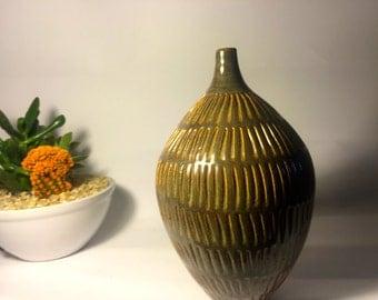 Carved Ceramic Bottle