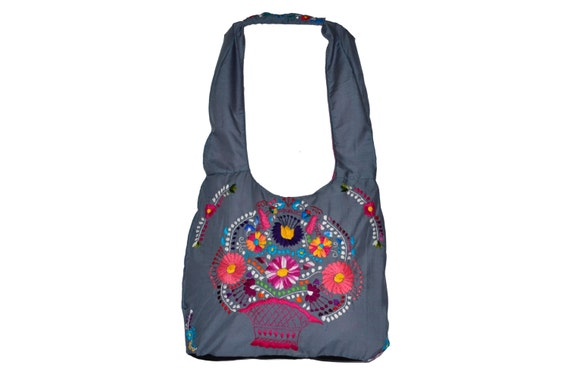 Mexican embroidered bag huipil dress style