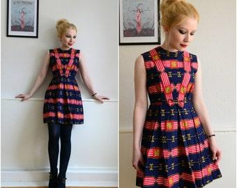 "Vintage dress ""SUBMARINE"" - Boho, hippie, 60, XS"