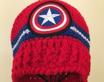 Captain America Logo Beanie