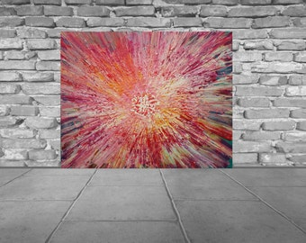 Melting flower- Large sturktural painting
