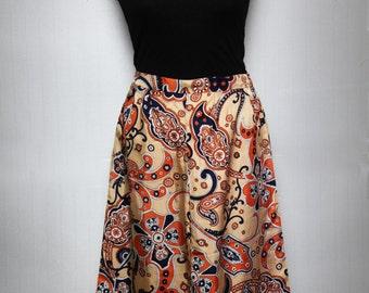 Orange pattern skirt