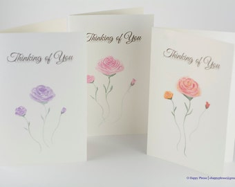 Hand-painted Rose Cards