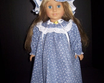 American Girl Doll Nightgown and Night Cap