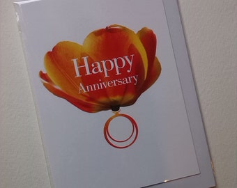 Happy Anniversary Tulip Card