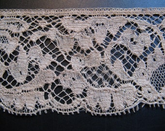 Beautiful antique French silk lace high 4 cm ... CA. 1920!