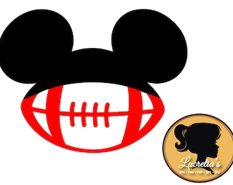mickey football svg mickey football dxf mickey football clipart svg files for silhouette cameo or cricut vector svg dxf eps