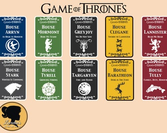 Game of throne svg - GOT cards silhouette  svg -  (Svg-Png-Jpg-eps-Dxf ) vector cutting files