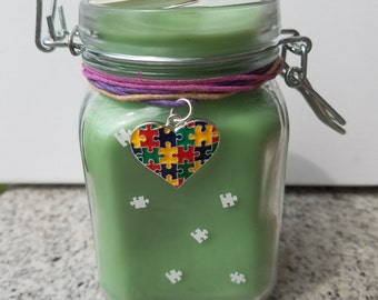 Autism Awareness! Cinnamom Scented Candle