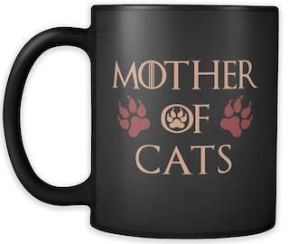 Mother Of Cats Mug Black 02