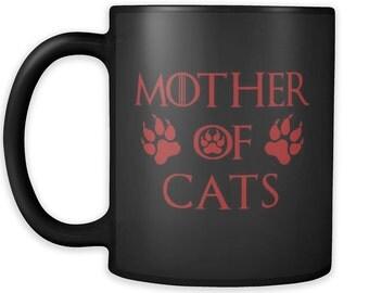 Mother Of Cats Mug Black 04