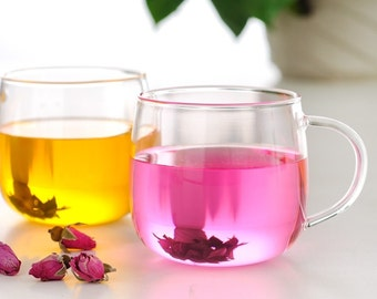 High temperature resistant glass tea cup by hand 200mL