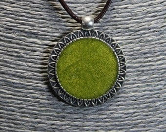 Handmade resin pendant necklace