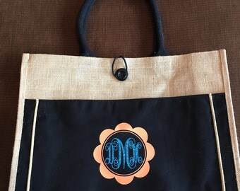 Personalized Jute Tote