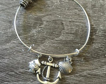 Anchor Adjustable Bangle
