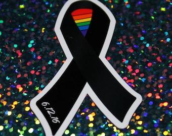 LGBTQ Remembrance Ribbon Magnet - #StandWithOrlando
