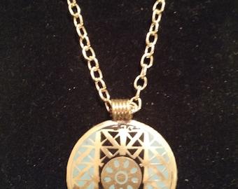 Turquoise & Gold Medallion