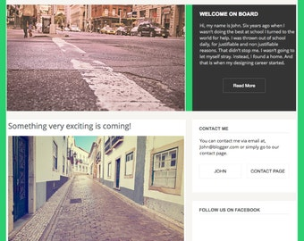 PreMade website and blog style theme | Wix Template | Bloggers - Photographers - Writers