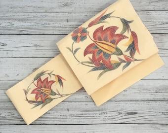 Vintage Japanese Kimono / Nagoya Obi / Belt / 065A0816-15