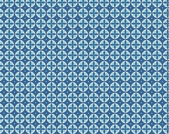 Modern Circles Blue 1 yard cotton fabric from Lori Holt for Riley Blake