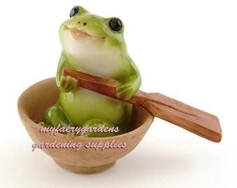 miniature fairy garden baby frog rowing boat gardening supply