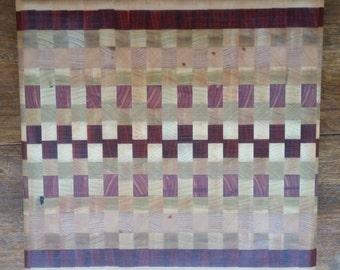 "Handmade End-Grain Cutting Board Approx 13"" x 13"""