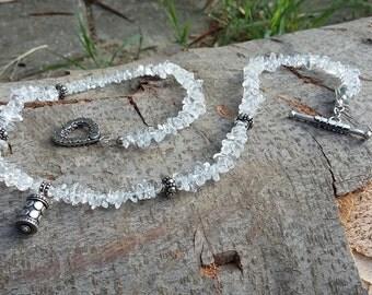 Clear Quartz ( Rock crystal ), .925 Sterling Silver, Pendant