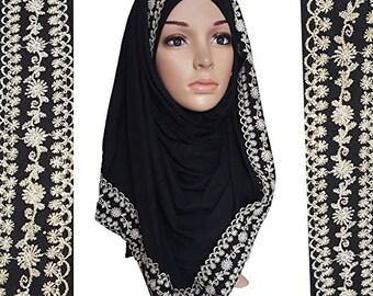 Studs jersey maxi scarf Muslim hijab