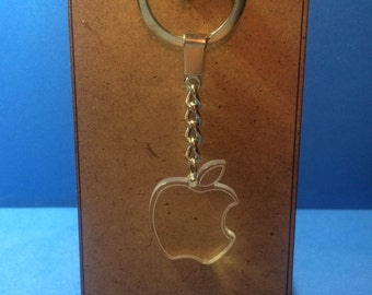 Apple logo keychain