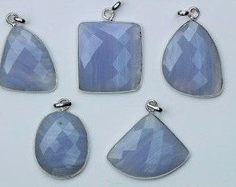 5 PENDANT of Blue Lace Agate