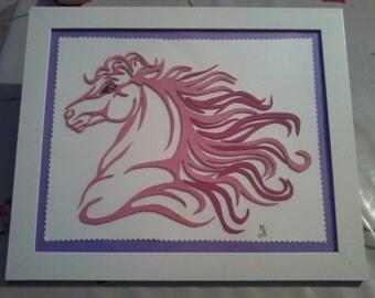 Pink barbie horse head