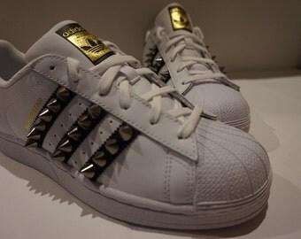 Studded Adidas Superstars