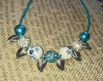 Winter blues necklace