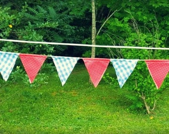 Red, White, and Blue Bunting Banner