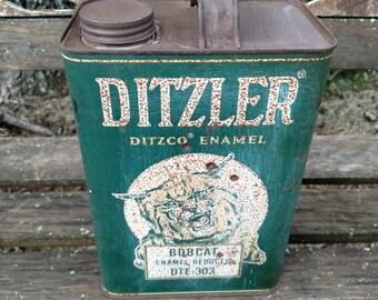 Vintage Ditzler Enamel Can