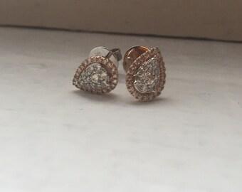 Pink Pear Earrings