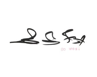 """Go West by Jakob Straume Giclée Print 5""""x 7"""""""