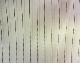 Black and white striped lining favric