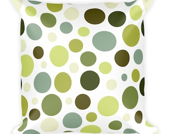 Dots Throw Pillow- Green