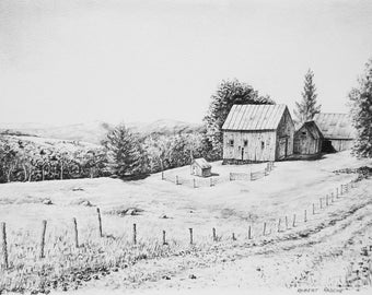 New England Farm Print