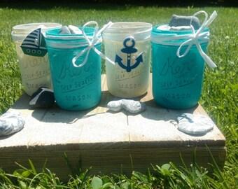 Sea Theme Mason jars