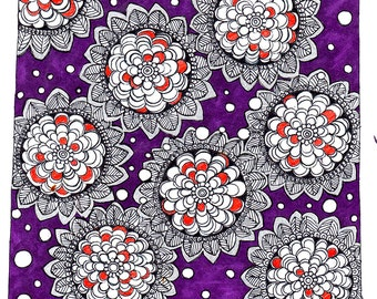 Plushpurple by Uroosa Rasheed / Canvas Print / Digital Print / Wall Art / Limited Edition