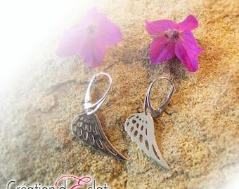 """Earrings in Sterling Silver 925 """"wings"""""""