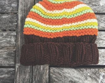 70s wool beanie