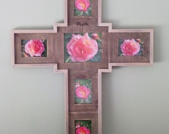 One of a kind Cross Picture Frame