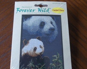 "Panda Cross Stitch Kit (5"" by 7"") by Janlynn's"