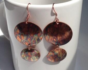 Flamed Brass Earrings
