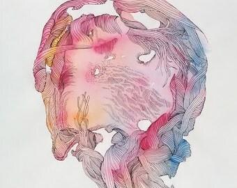 liquid diagram #01 (paper drawing study)