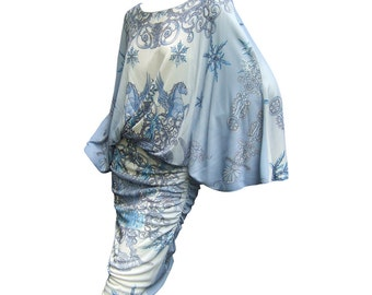 Spectacular Versace Pegasus Design Jersey Dress.